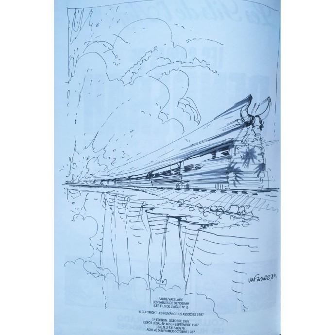 Fils de l'aigle (le) - Les sables de Denderah - EO 1987 + Dédicace - 1