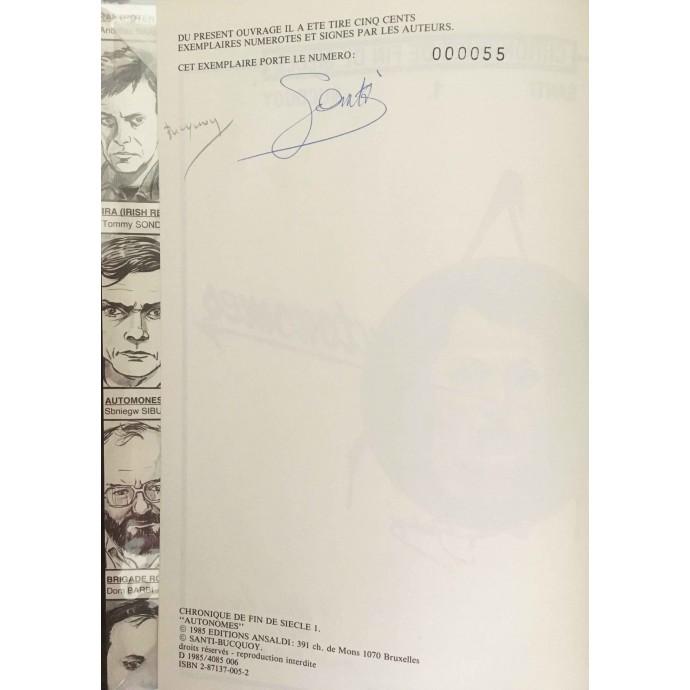 Chroniques de fin de siècle - Autonomes - TT 1985 signé - 2