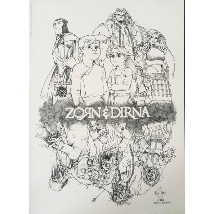 Zorn et Dirna - Notre Père qui êtes odieux - TL 2012 + ex-libris - 3