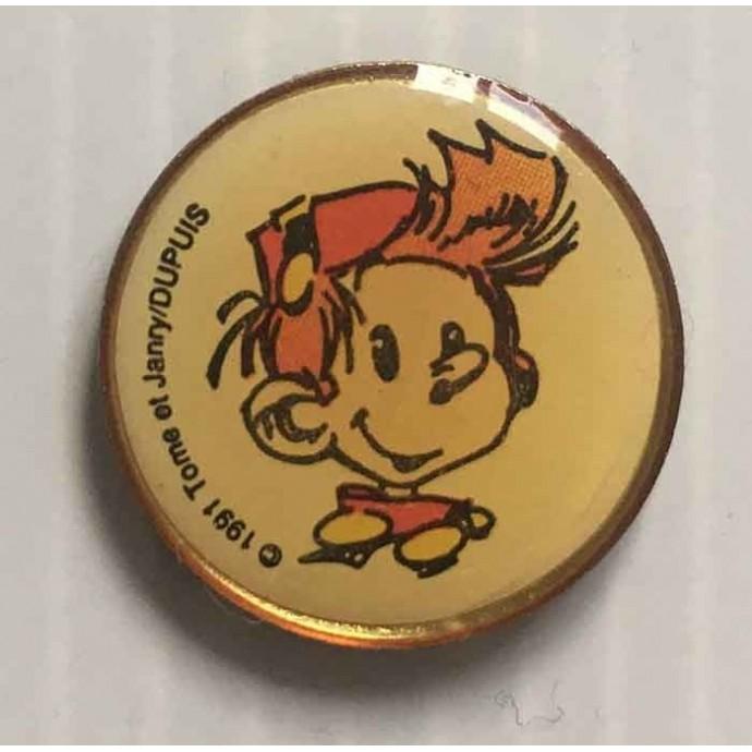 Spirou - pin's: Spirou médaillon - Tome et Janry/ Dupuis 1991 - 1