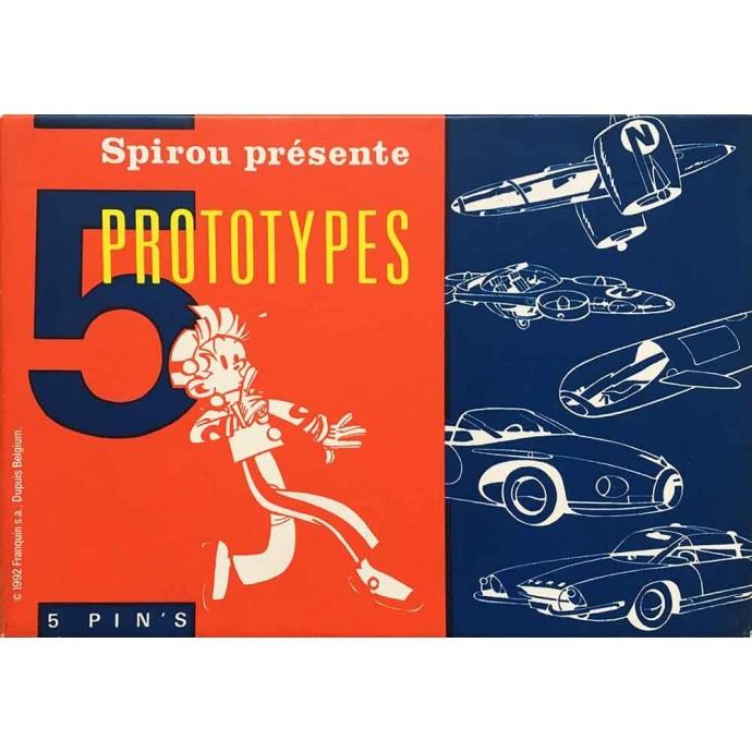 Spirou - Coffret de 5 pin's: Spirou présente 5 prototypes - TL 1992 - 1