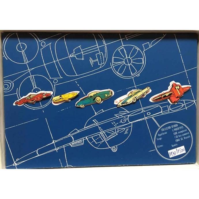Spirou - Coffret de 5 pin's: Spirou présente 5 prototypes - TL 1992 - 2