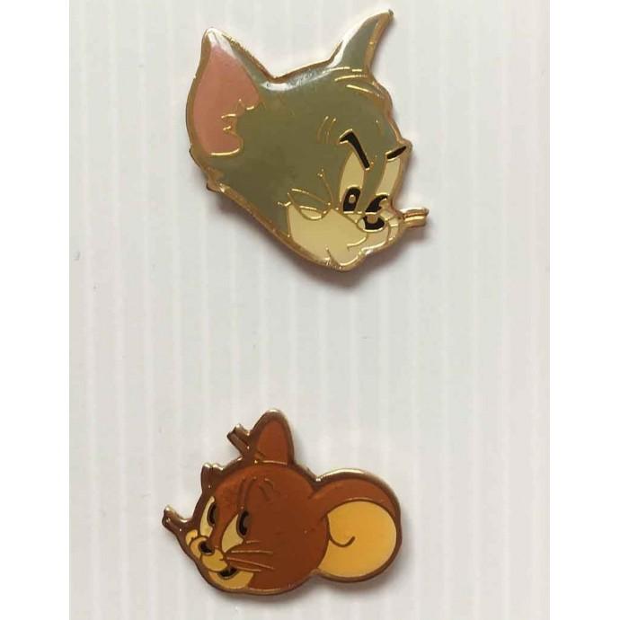 Tom et Jerry - lot de 2 pin's - Pub MAILLE- 1991 - 1