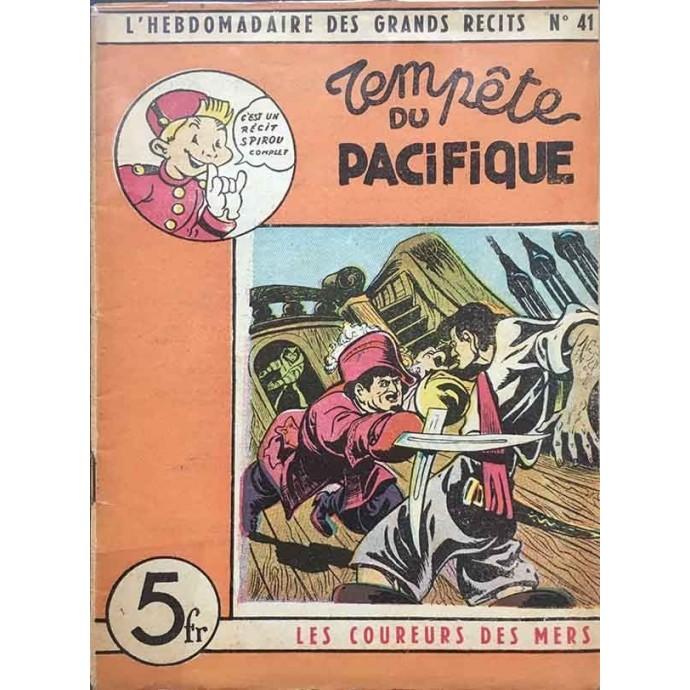 Spirou - Hebdomadaire des Grands Récits - Tempête du Pacifique N°41- EO 1948 - 1