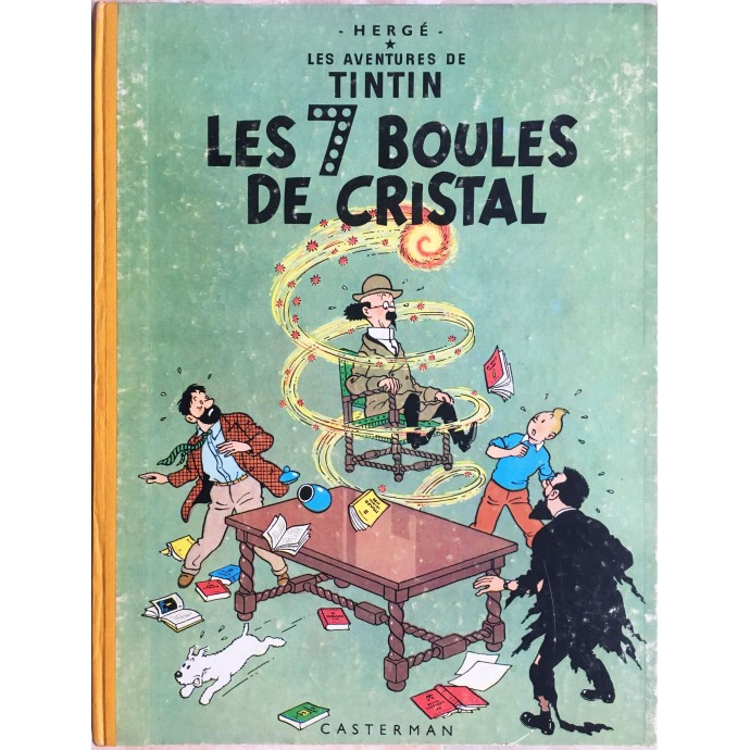 Tintin Les 7 Boules de Cristal 1957
