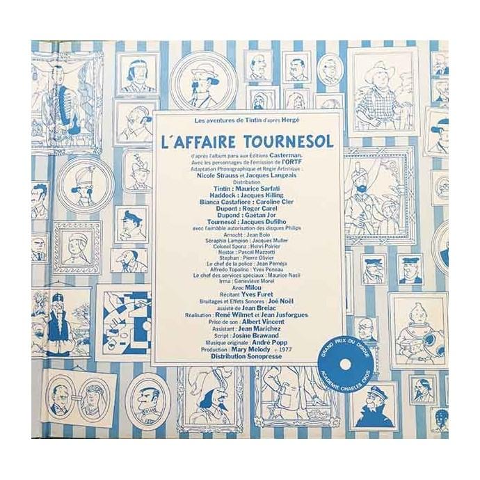 Tintin - L'affaire Tournesol - Disque vinyle 33 tours - 1977 - 2