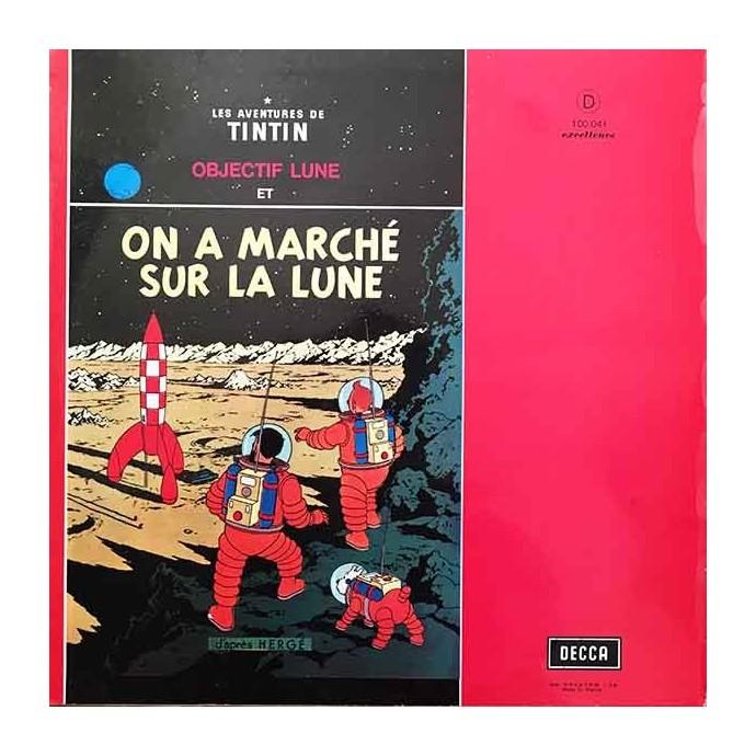 Tintin - Objectif Lune et On a marché sur la Lune - Disque vinyle 33 tours - 1957 - 2