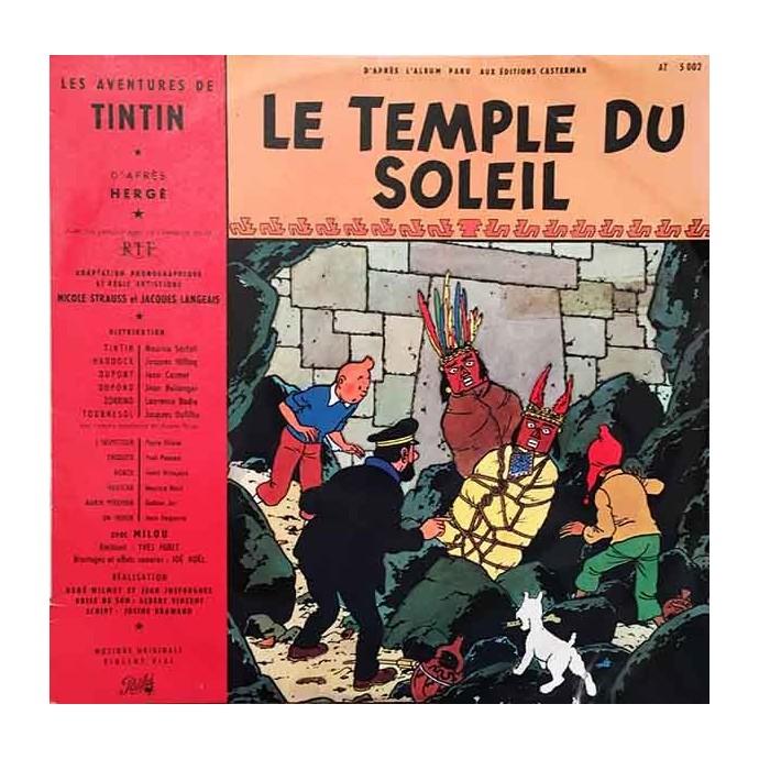 Tintin - Le Temple du Soleil - Disque vinyle 25cm/33 tours - 1962 - 1