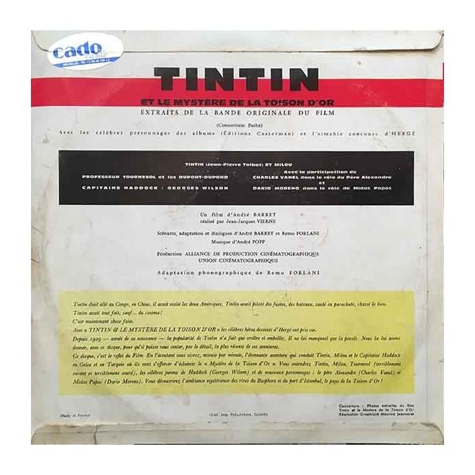 Tintin et le Mystère de la Toison d'Or - Disque vinyle 25cm/33 tours - 2