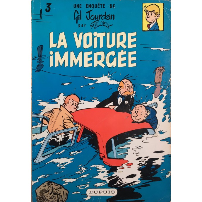 Gil Jourdan - La voiture immergée  - EO 1960 - 1